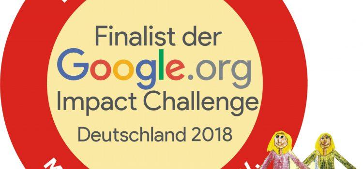 Finalist bei der Google.org Impact Challenge – hilf uns zu gewinnen und stimm für uns ab!